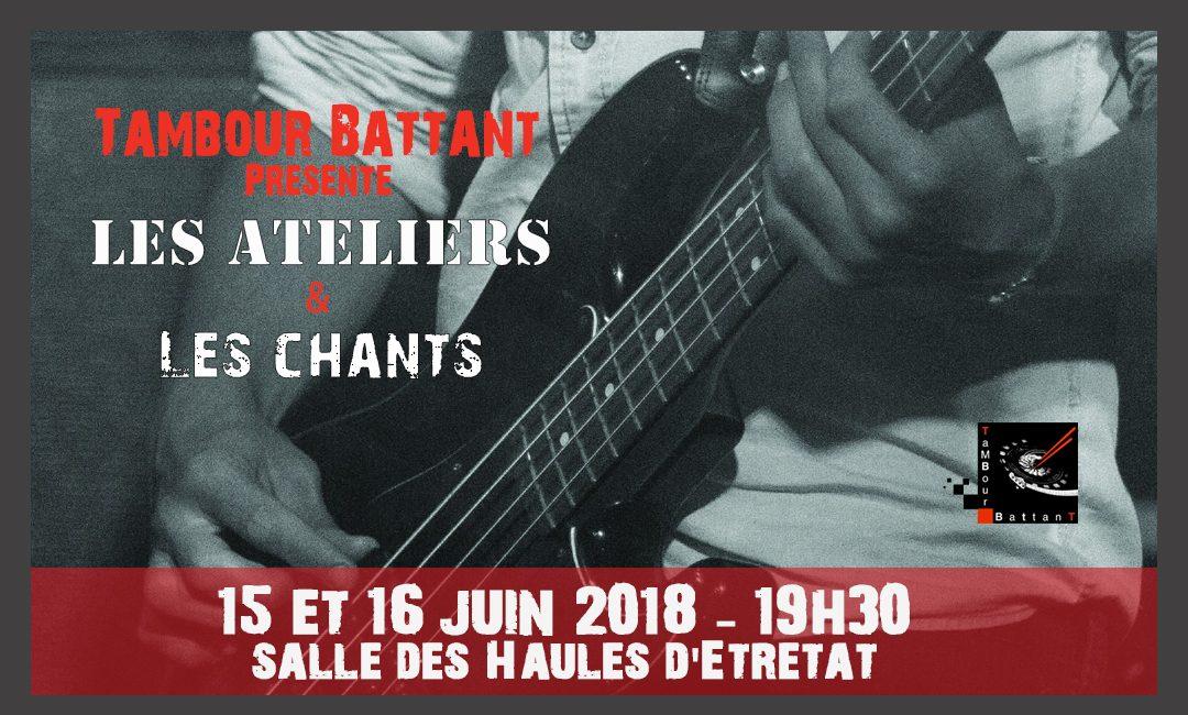 Concert des ateliers 15 et 16 juin 2018